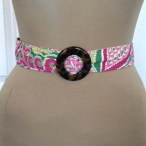 Vera Bradley pink and green belt